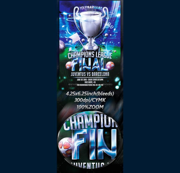 champions league final flyer
