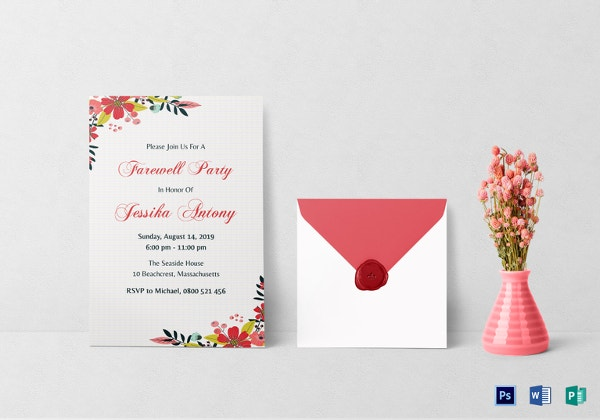 farewell party invitations templates