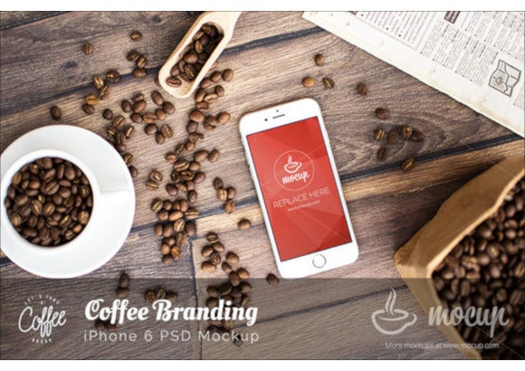 coffee branding iphone 6 mockup1