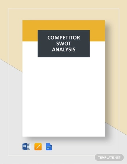competitor swot analysis template1