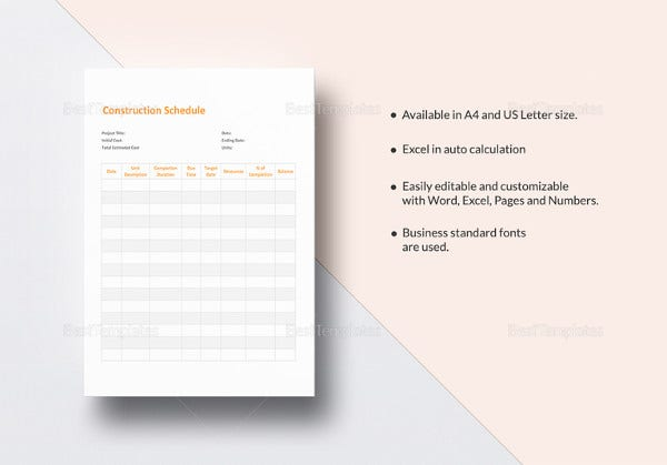construction-schedule-excel-template
