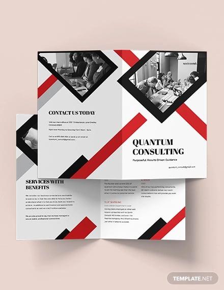 consulting bi fold brochure template