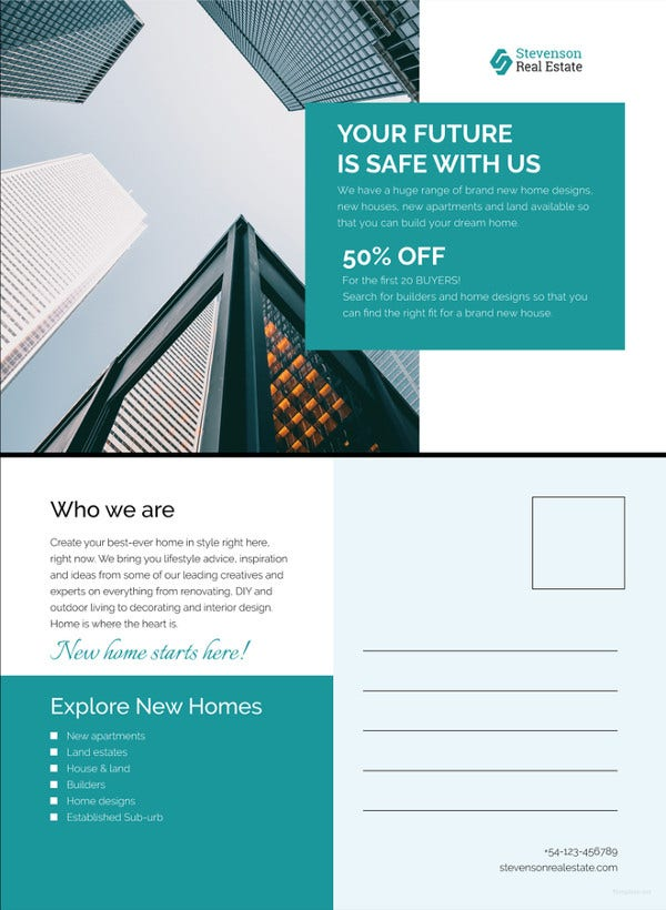 corporate business postcard template3