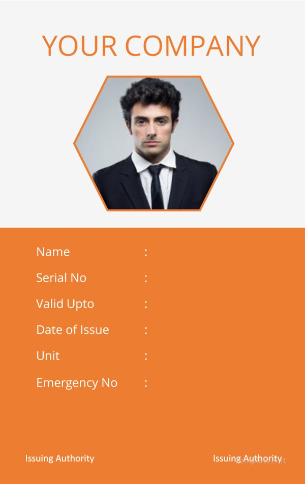 corporate-id-card-template