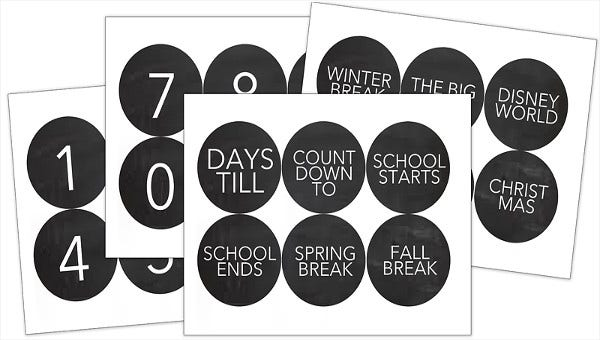image regarding Printable Countdown Calendar Template called 7+ Countdown Calendar Templates - Free of charge Pattern, Case in point