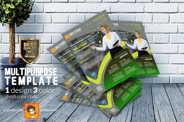 creative multipurpose flyer