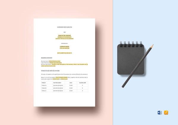 customer needs analysis template2