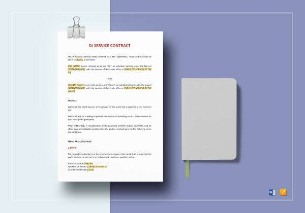 dj service contract template2