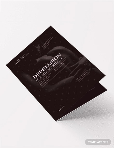 depression bi fold brochure template1