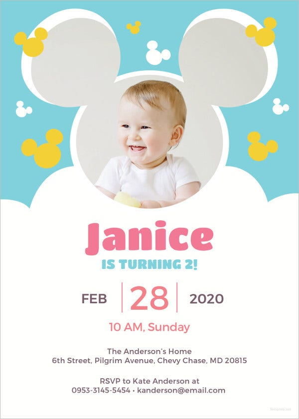 11+ Disney Invitation Templates - Free Sample, Example, Format ...