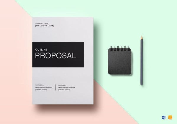 easy to edit proposal outline template