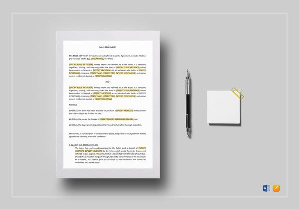 editable-sales-contract-template