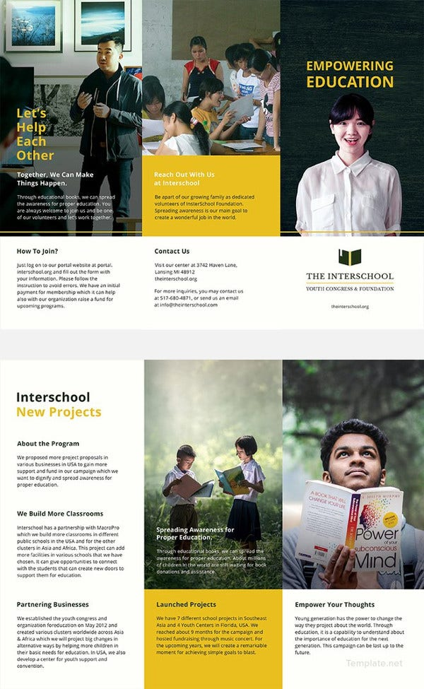 education trifold brochure template1