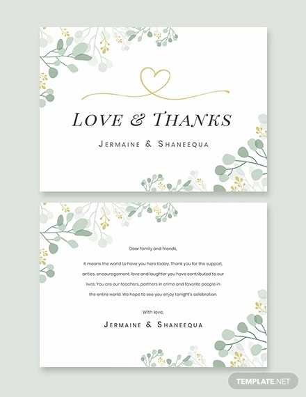engagement party thank you card template
