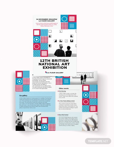 exhibition bi fold brochure template