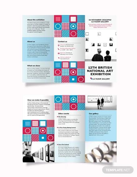 exhibition tri fold brochure template