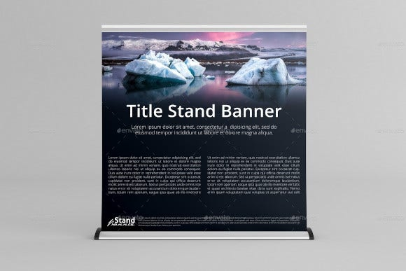 extra wide roll up banner stand mock up