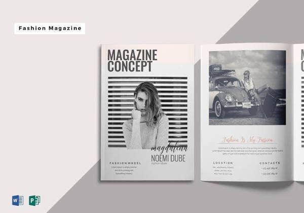fabulous fashion magazine template