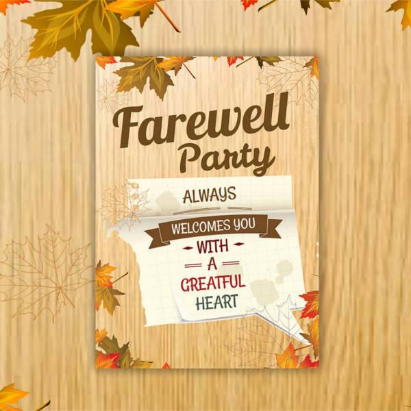 farewell-7-x-5-invitation-card-template