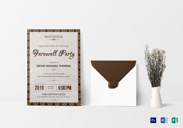 28 farewell invitation template free sample example format farewell invitation template in psd stopboris Gallery