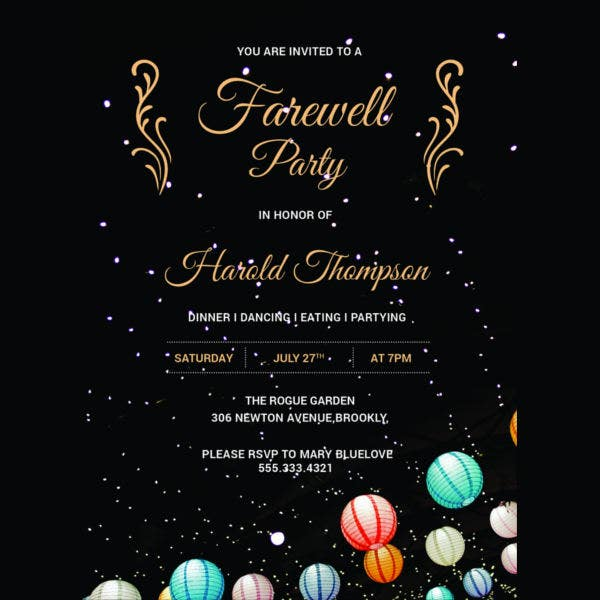 farewell party invitation template2