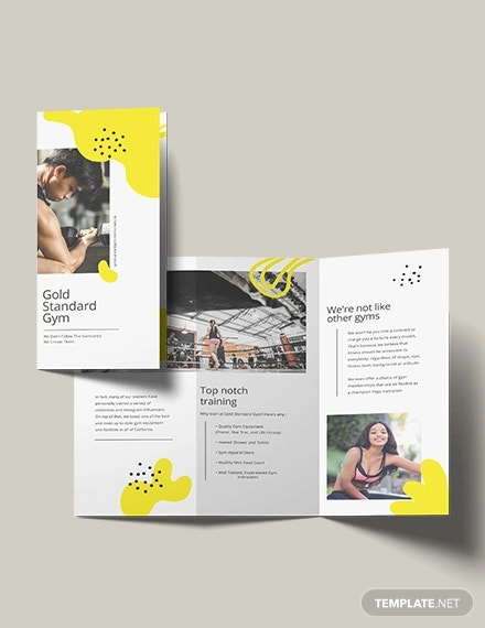Fitness Brochure Template | 15 Gym Brochure Templates Free Psd Ai Vector Eps Format