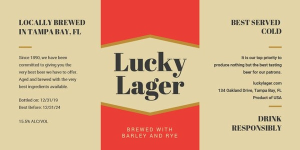 free beer bottle label template