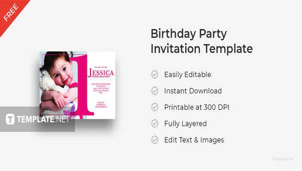 free birthday party invitation template