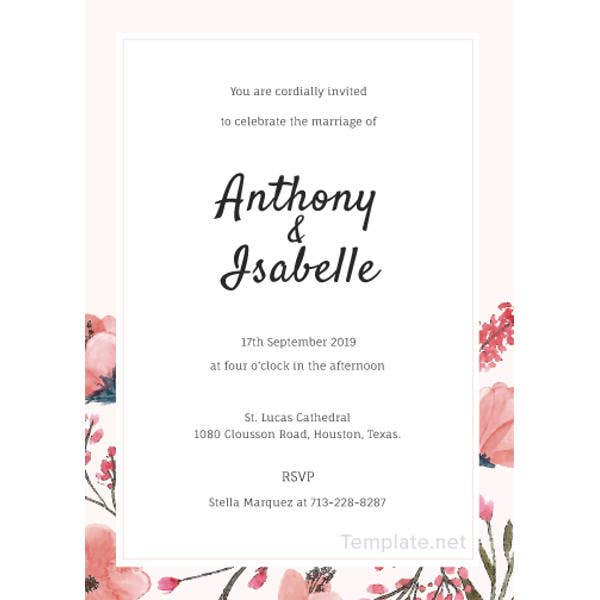 22 Free Wedding Invitation Templates Traditional Modern Royal