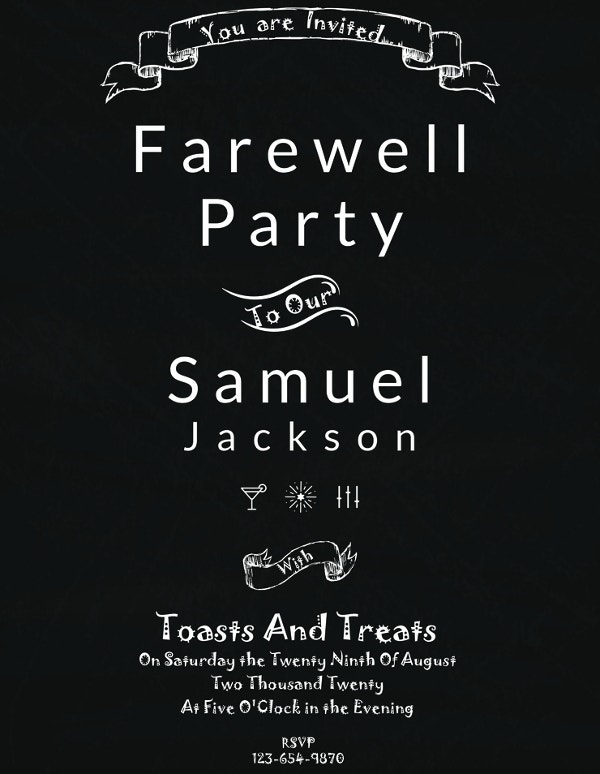 26 farewell invitation templates psd eps ai free premium