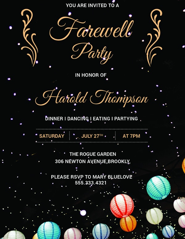26  farewell invitation templates