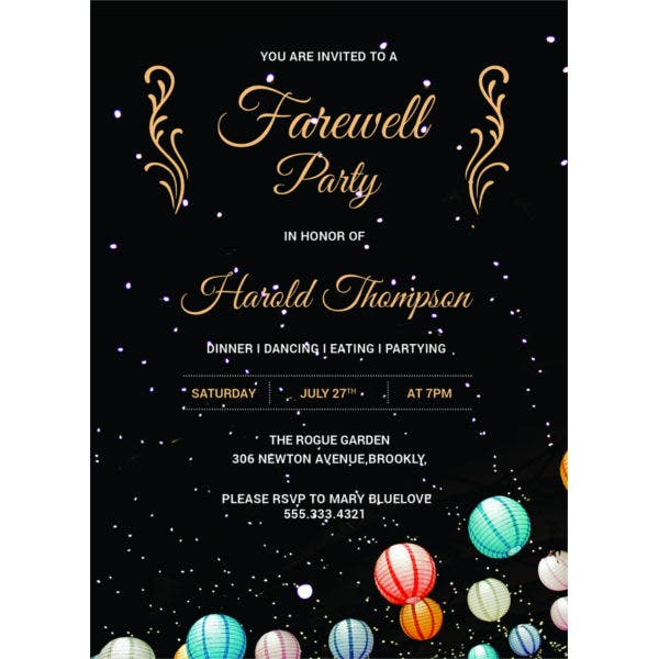 free farewell party invitation template1