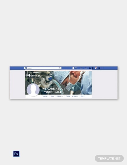free hospital facebook cover page template