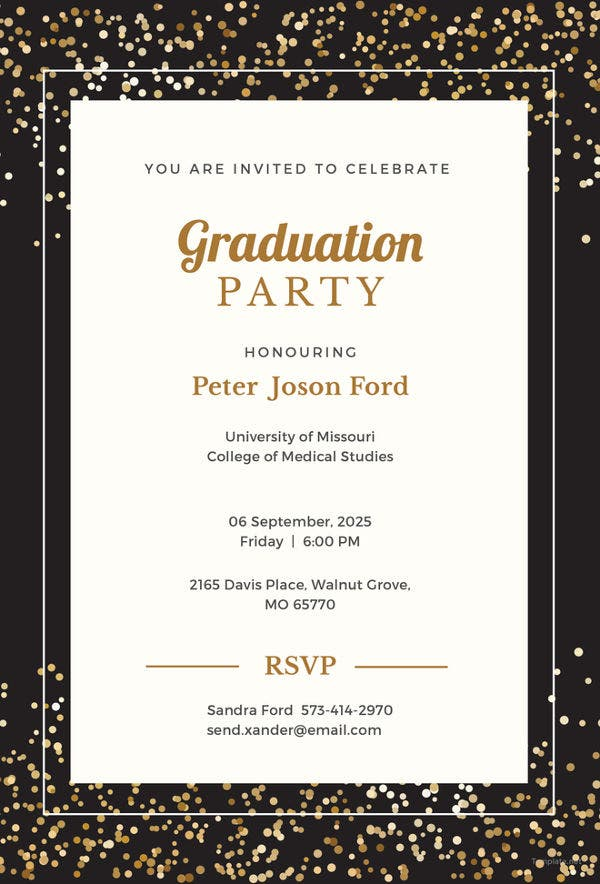 27 graduation invitation templates free sample example format free simple graduation invitation template stopboris Gallery