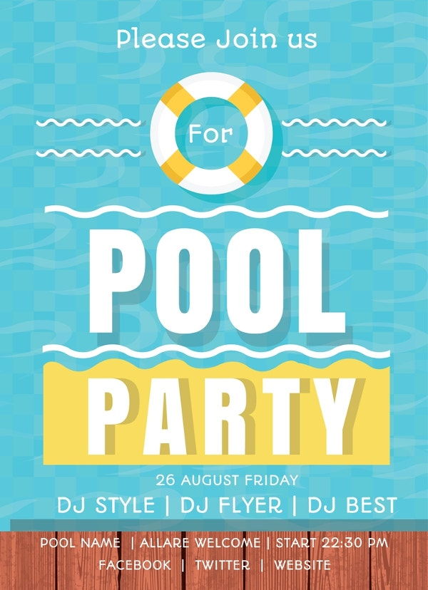 3+ Free Pool Party Invitation Templates - Printable, Swimming | Free ...