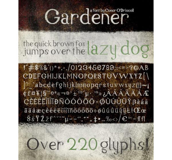 gardener font1