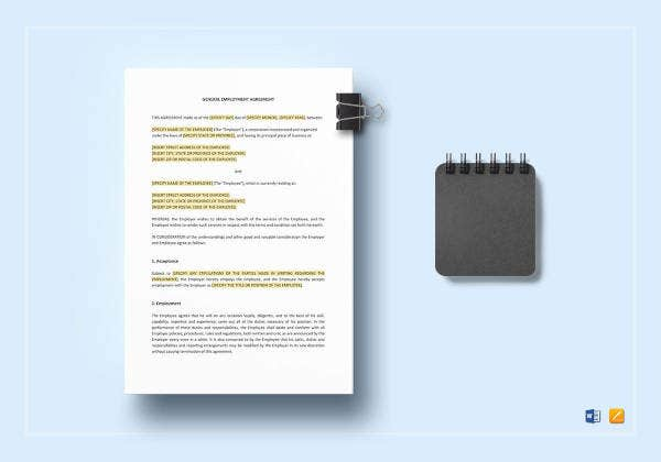 general employment agreement template