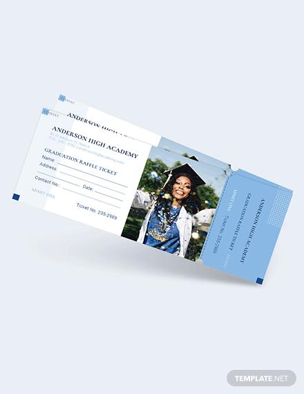 graduation raffle ticket template