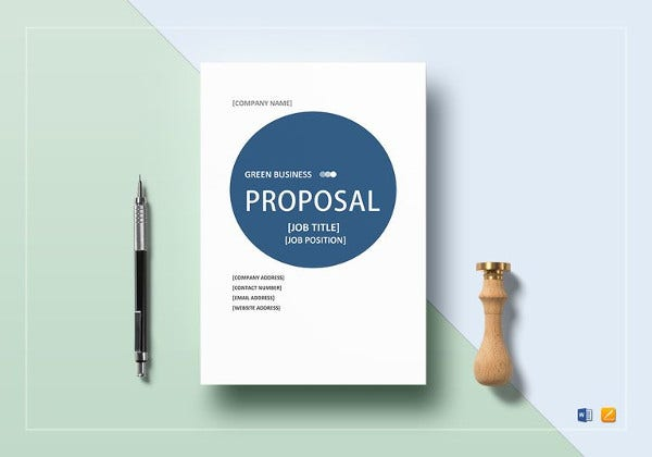 green business proposal template to print
