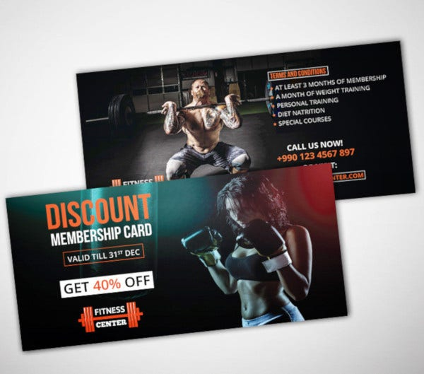 gym discount voucher template
