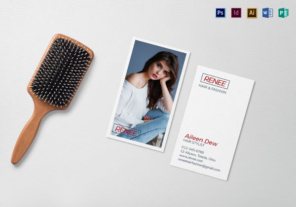 hair and fashion business card