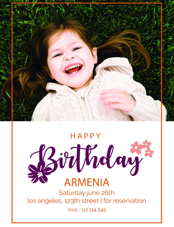 happy birthday invitation template to print