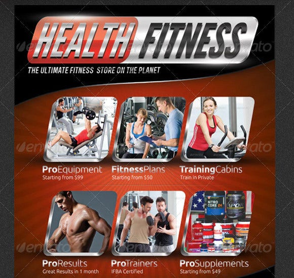 health fitness pro flyer