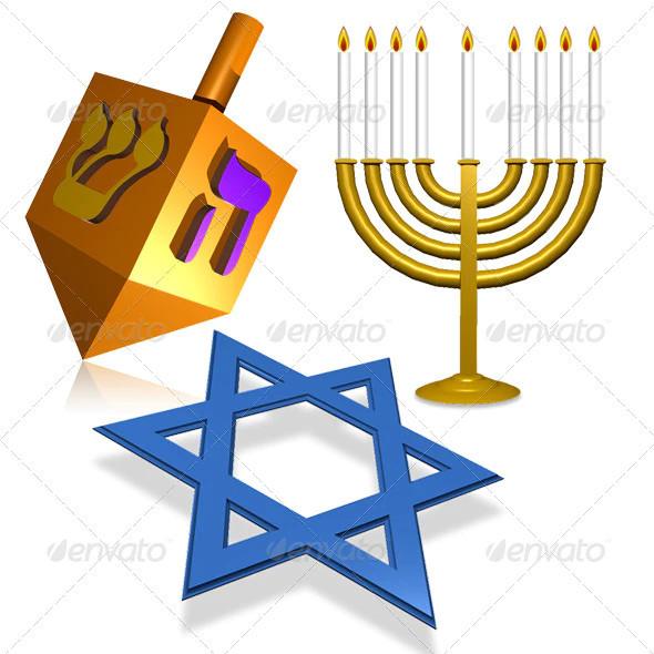 holiday hanukkah icon pack