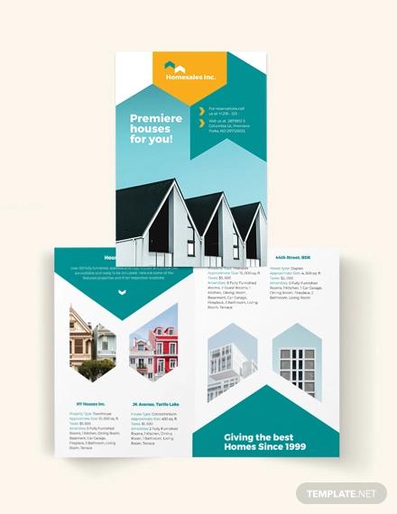 house for sale bi fold brochure template