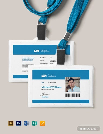 id card template1