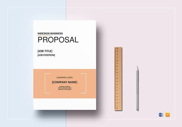 indesign business proposal template in word
