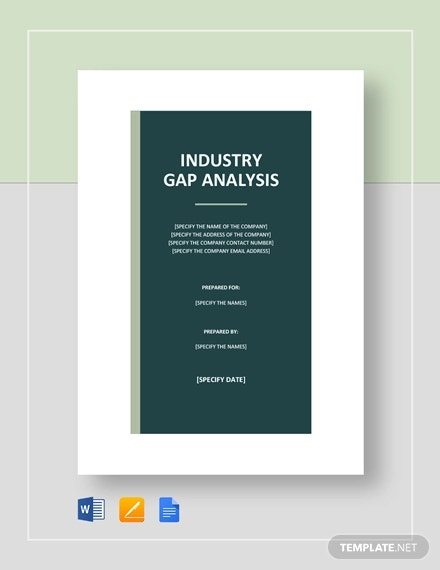 industry gap analysis template