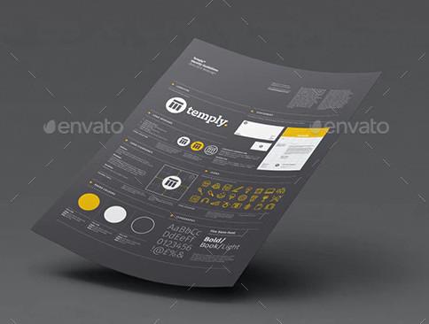 infographic brand identity poster
