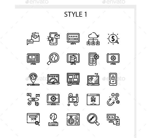 internet marketing iconset